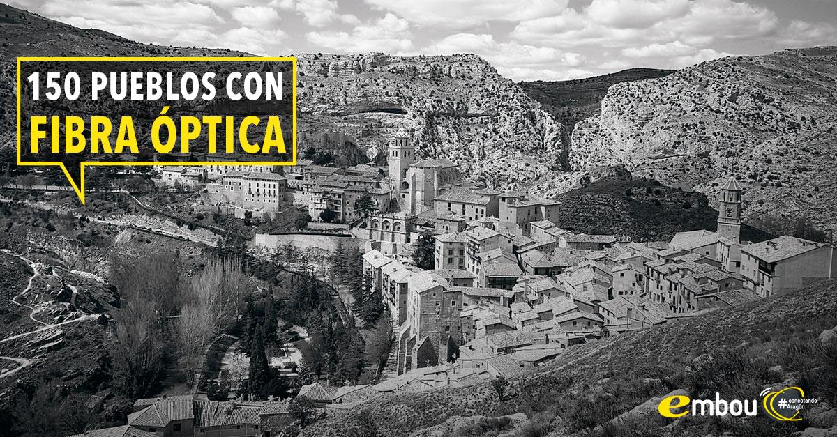 150 localidades de Aragón ya tienen fibra óptica de Embou