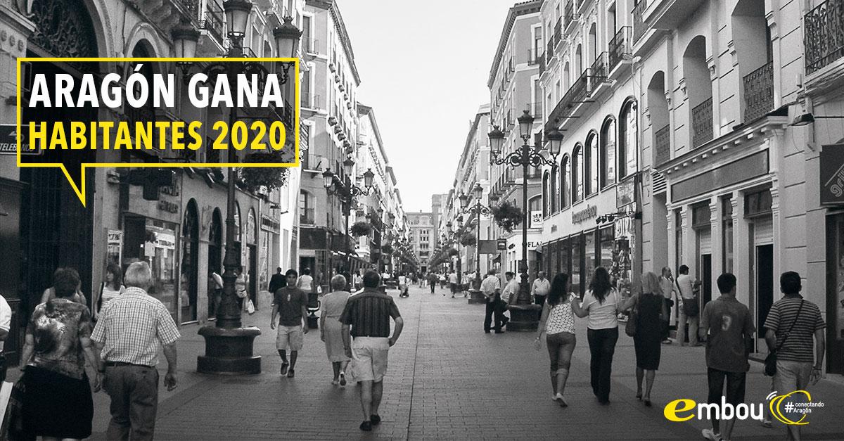 Aragón gana habitantes en 2020