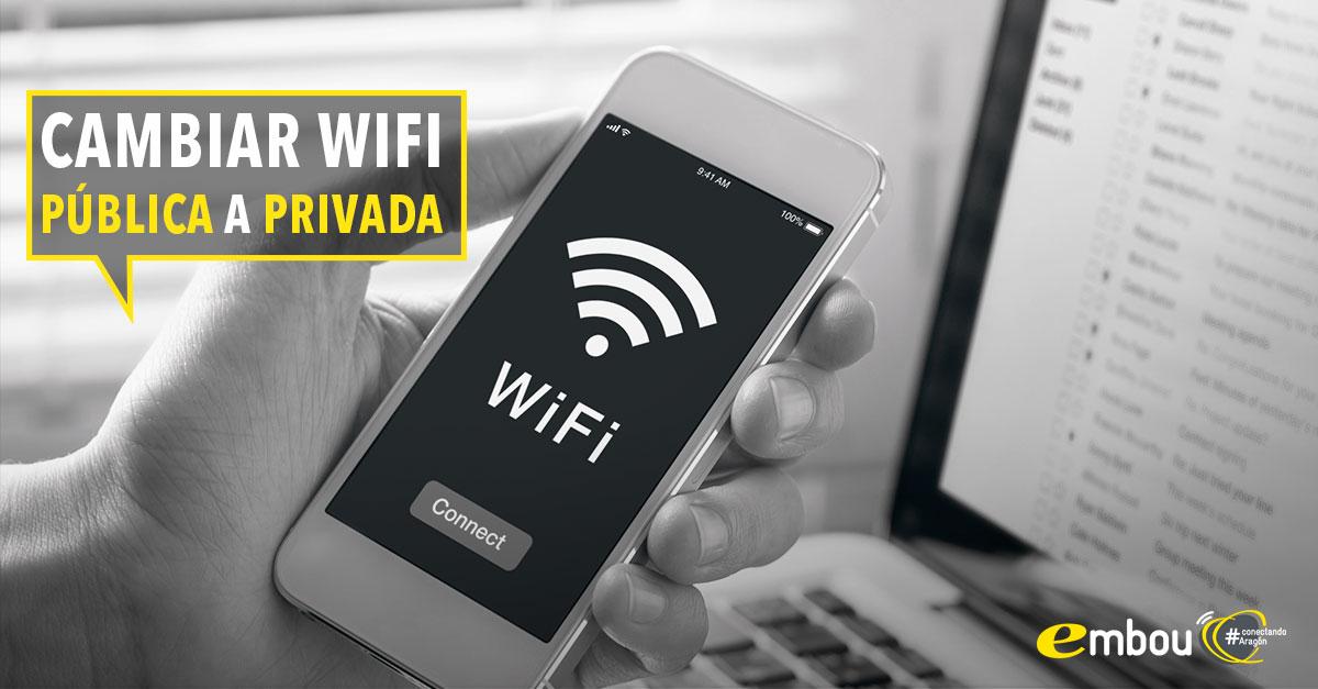 Cómo cambiar una red wifi pública a privada