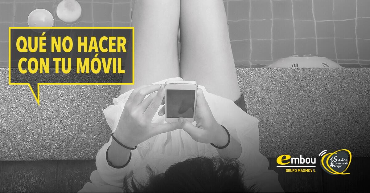 Diez cosas que no debes hacer con tu móvil a diario