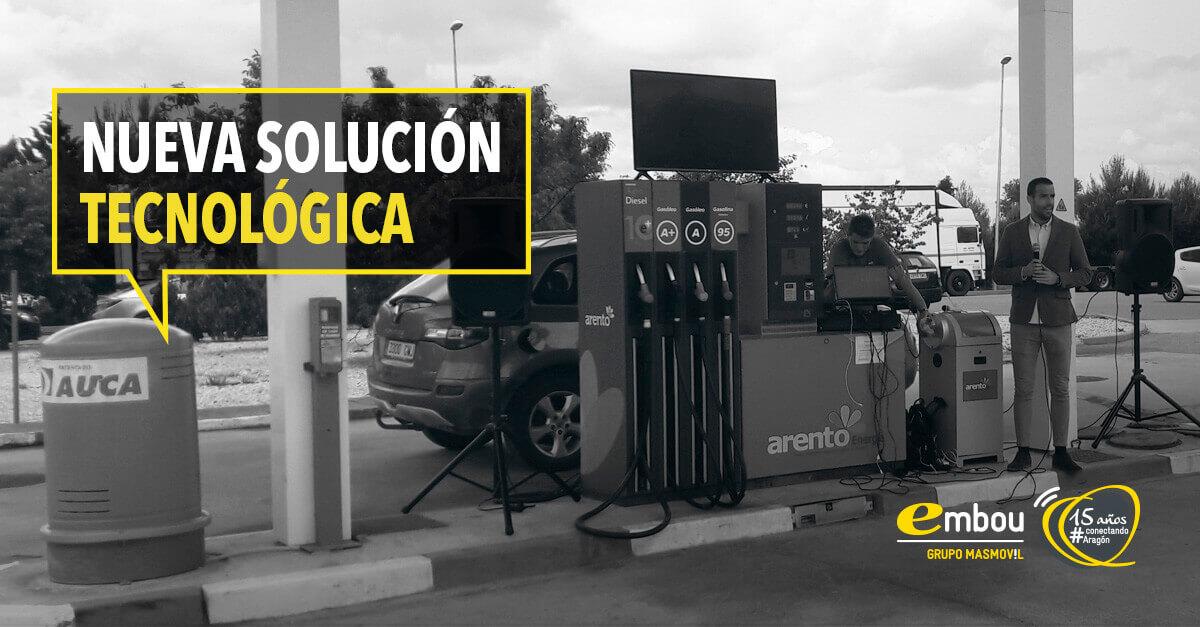 Embou colabora con Grupo ARENTO en su nueva solución tecnológica para gasolineras