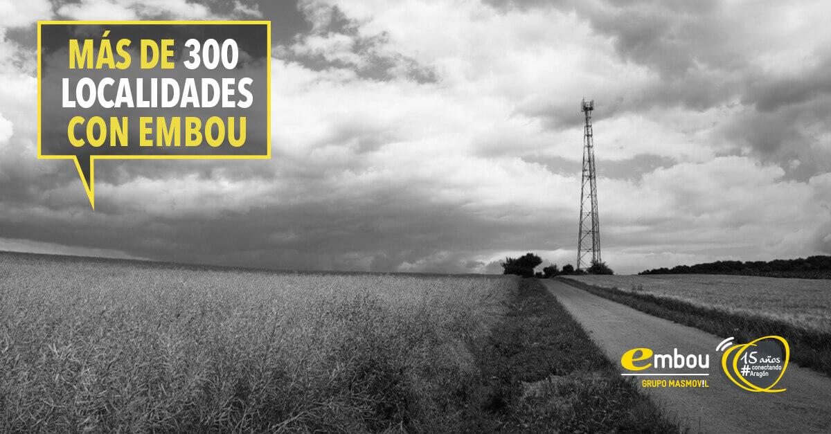 Más de 300 localidades con Embou