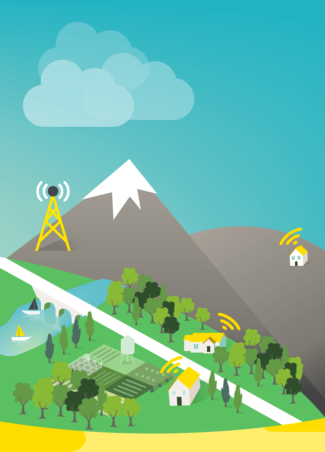 Wimax te ofrece Internet sin cables en zonas rurales de Aragón